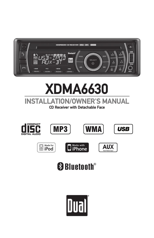 dual electronics xdma6630 user manual 32 pages rh manualsdir com