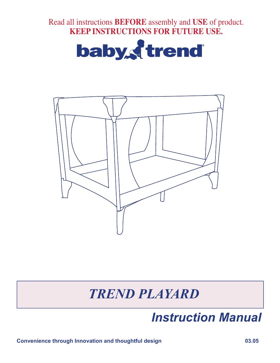 Babytrend 8025 Laurel Oak Play Yard User Manual 5 Pages