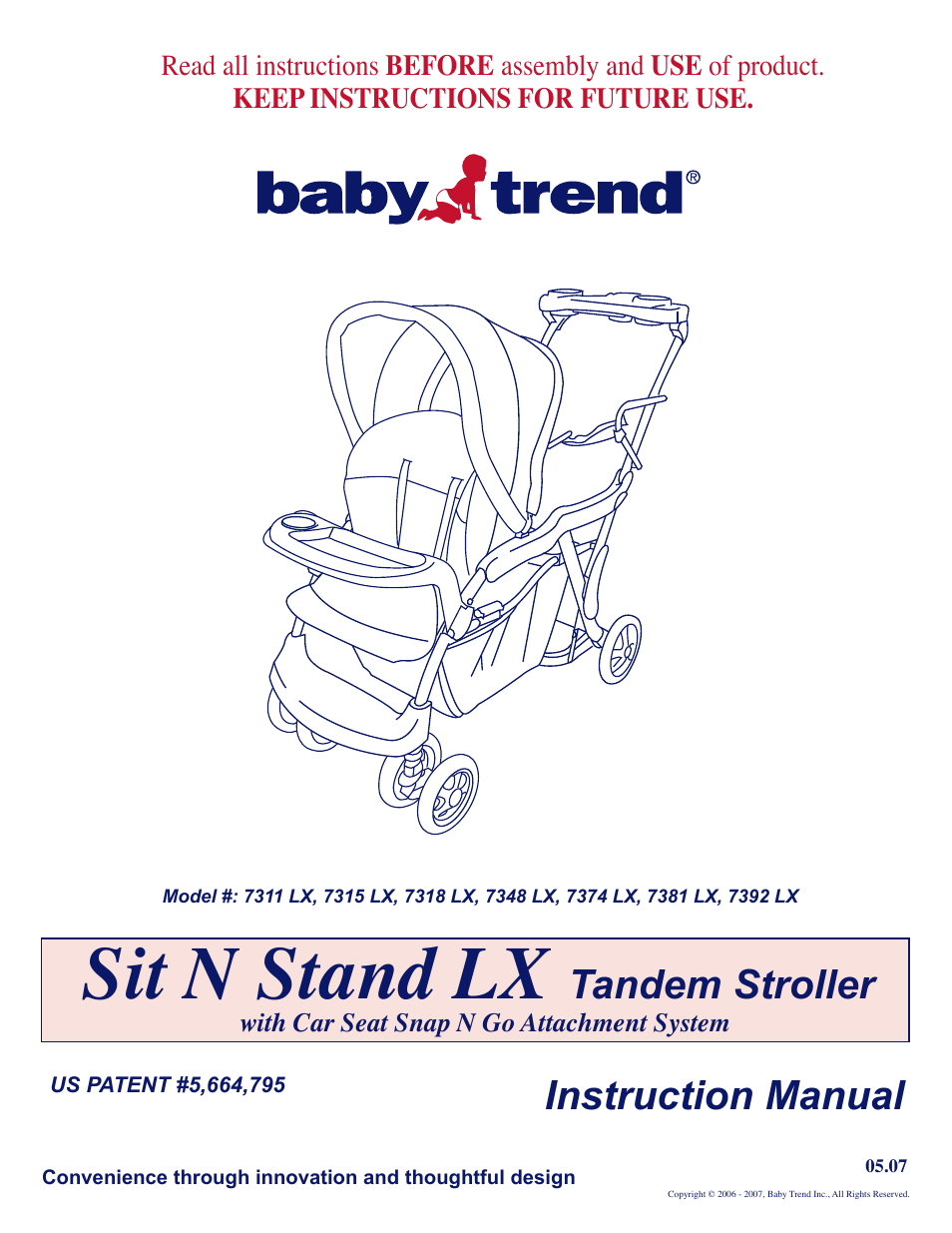Baby Trend Car Seat Stroller Manual Velcromag