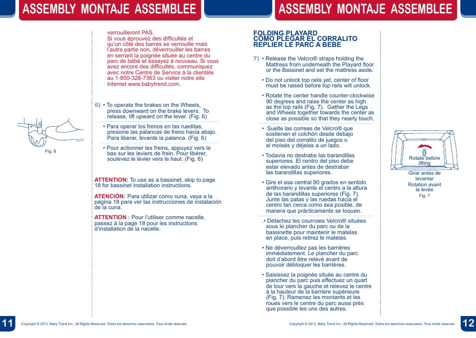 Assembly Montaje Assemblee Babytrend 8274bcc Deluxe Nursery