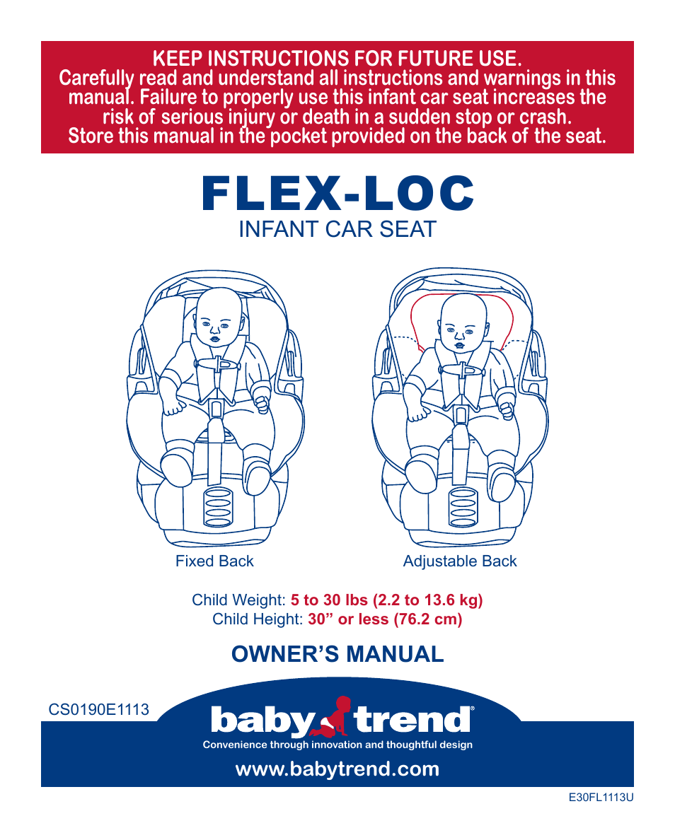 babytrend cs31983 flex loc infant car seat all star user manual 27 pages. Black Bedroom Furniture Sets. Home Design Ideas