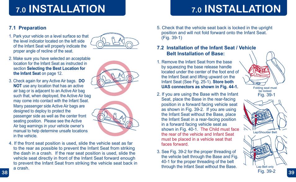 Installation   BabyTrend CC13700 - EZ FLEX-LOC INFANT CAR SEAT ...