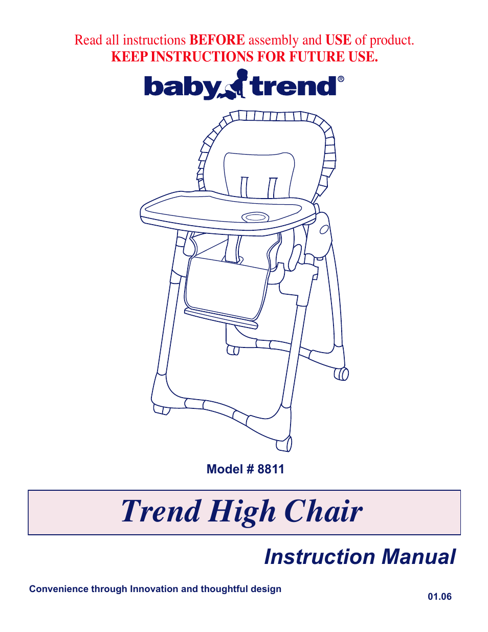 babytrend 8811 chatham high chair user manual 6 pages rh manualsdir com baby trend walker instruction manual baby trend expedition manual instructions