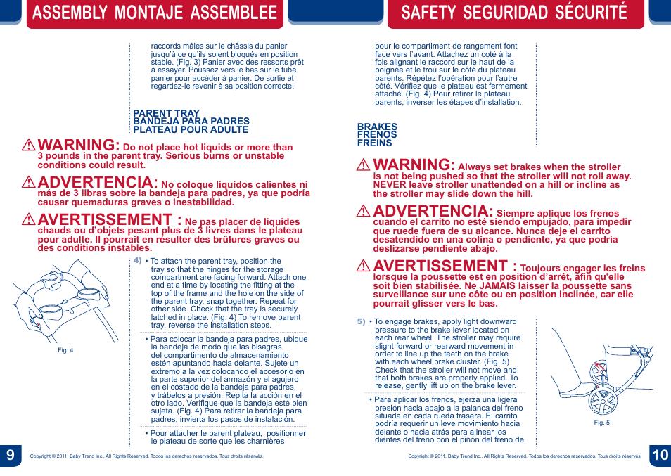 Assembly Montaje Assemblee Safety Seguridad Scurit Warning