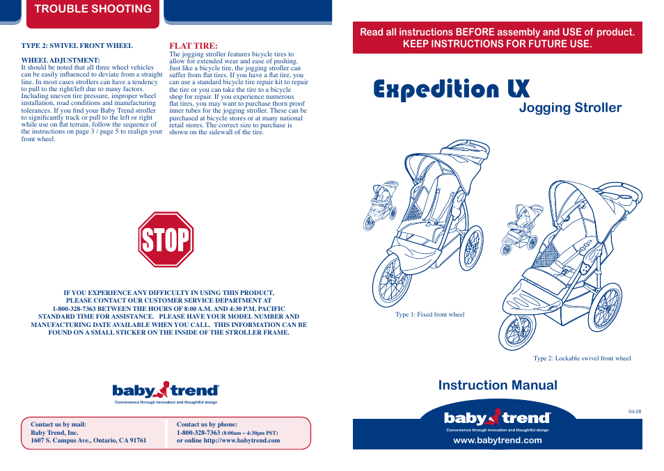 babytrend 9185 expedition lx jet user manual 8 pages rh manualsdir com baby trend velocity manual baby trend expedition manual