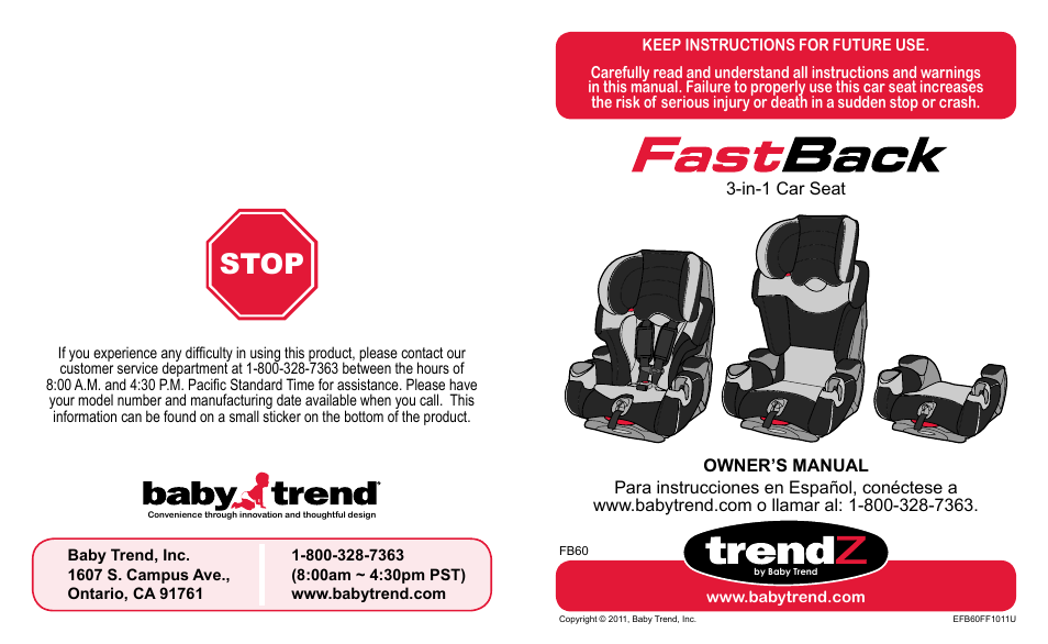 babytrend fb60408 trendz fastback 3 in 1 car seat jelly bean user manual 42 pages. Black Bedroom Furniture Sets. Home Design Ideas
