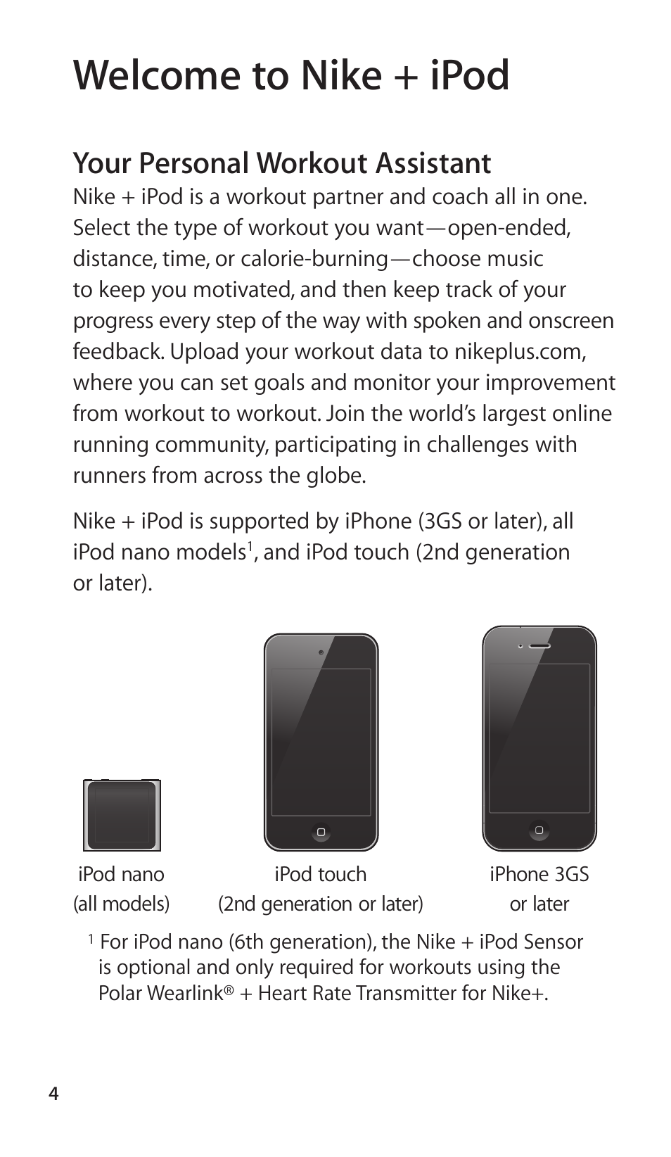 nike plus and ipod user guide