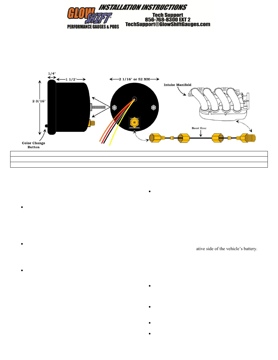 Wiring Diagram For Glowshift Boost Gauge - Wiring Diagram M2 on
