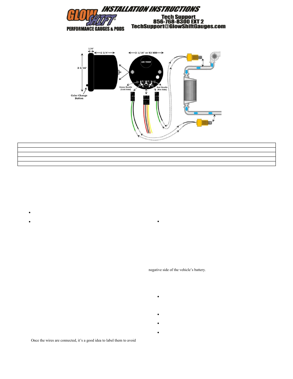 glowshift 7 color series dual air intake temperature gauge page1 glowshift 7 color series dual air intake temperature gauge user Electric Speedometer Gauge Wiring Diagram at readyjetset.co