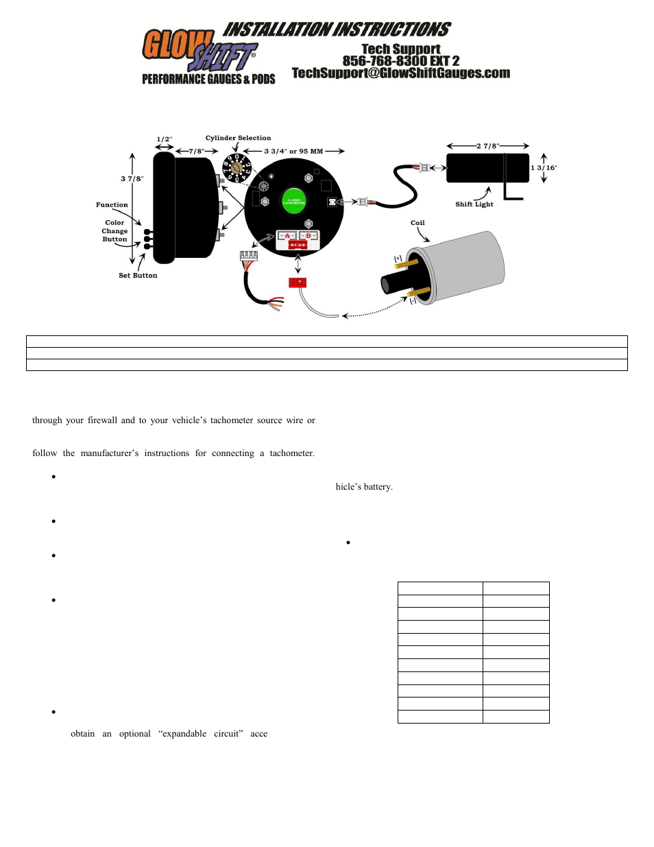 Glowshift Elite 10 Color Series 334 Inch In Dash Tachometer Gauge How To Connect A User Manual 3 Pages Also For 4th