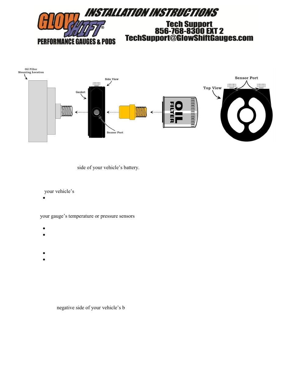 GlowShift Oil Filter Sandwich Adapter User Manual | 3 pages | Also for: Oil  Filter Sandwich Adapters