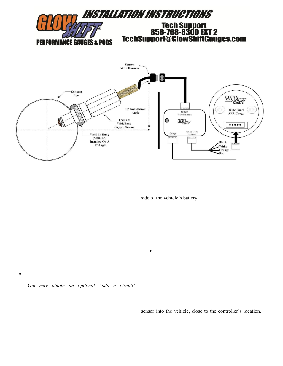 Air Fuel Gauge Wiring Great Design Of Diagram Subaru Forester O2 Sensor Diagrams Glowshift Tinted Series Wideband Ratio User Aem Install Installation Instructions