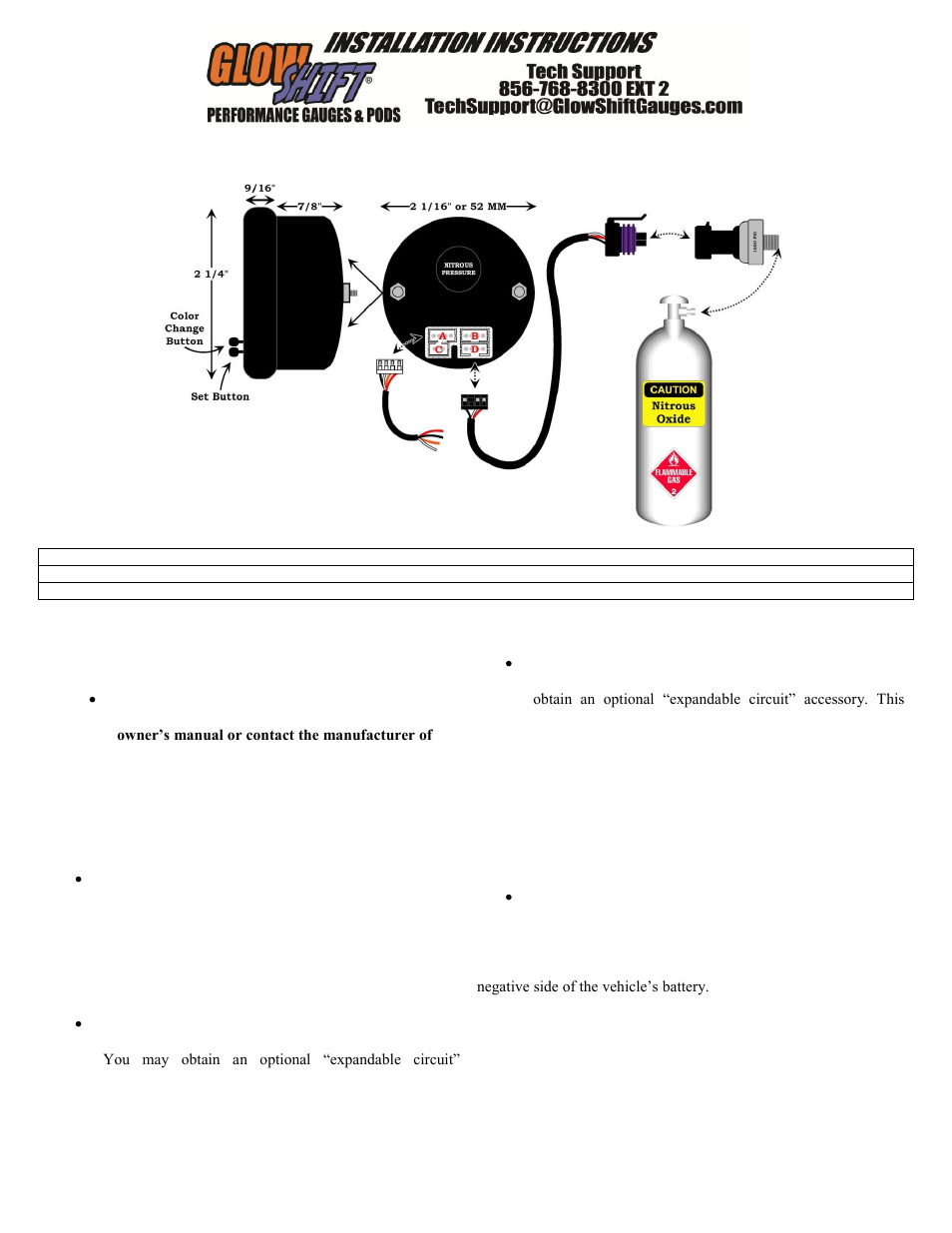 glowshift elite 10 color nitrous pressure gauge user manual 3 pages rh  manualsdir com nitrous water