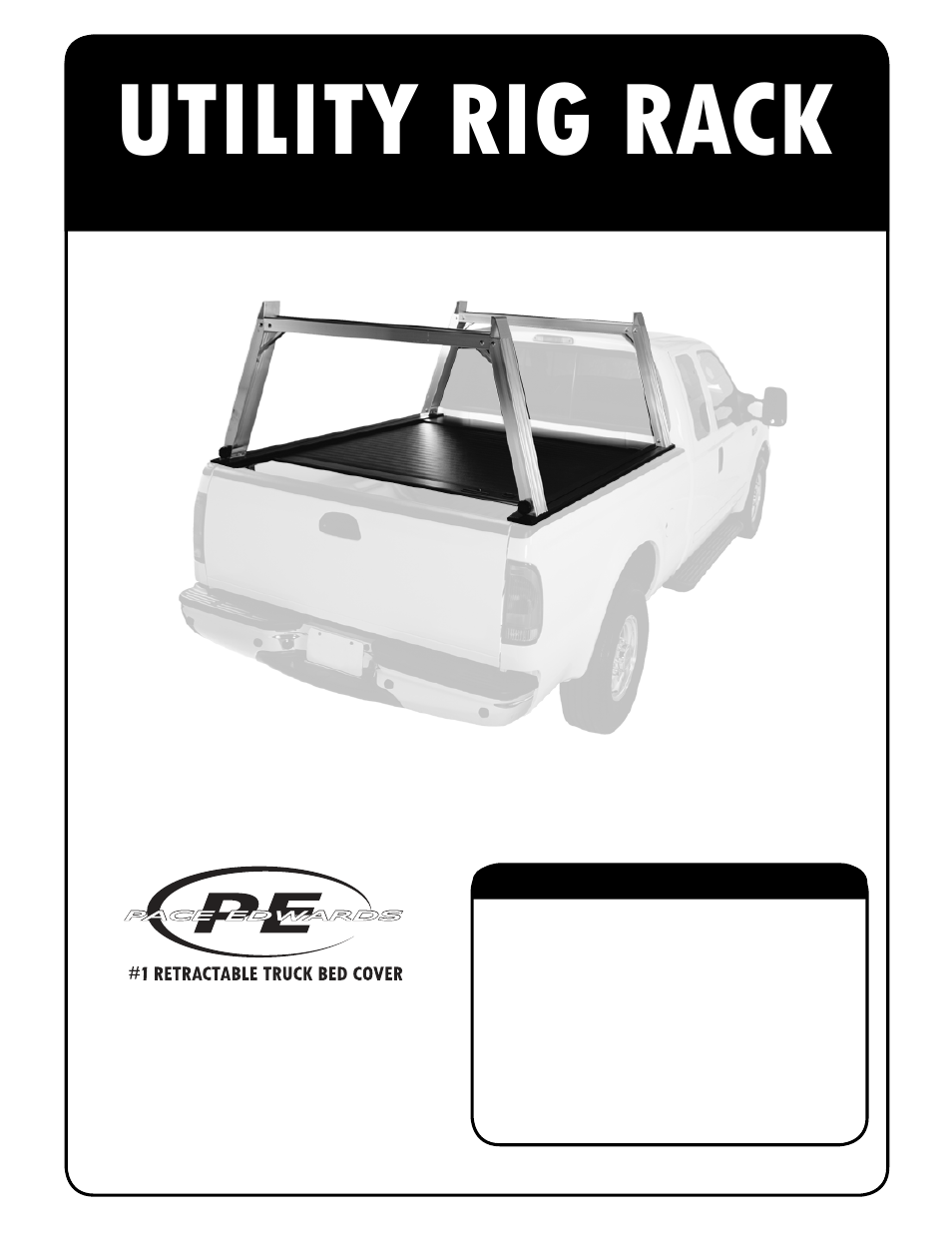 Pace-Edwards Utility Rig Rack User Manual | 16 pages