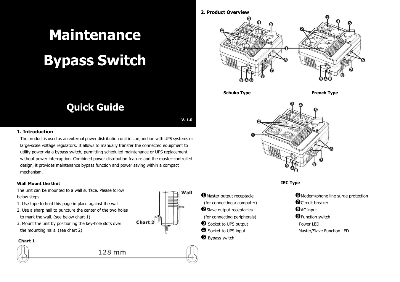 Maintenance Byp Switch Wiring Diagram Library Voltage Regulators Protector Circuit Powerwalker Bypass User Manual 2 Pages