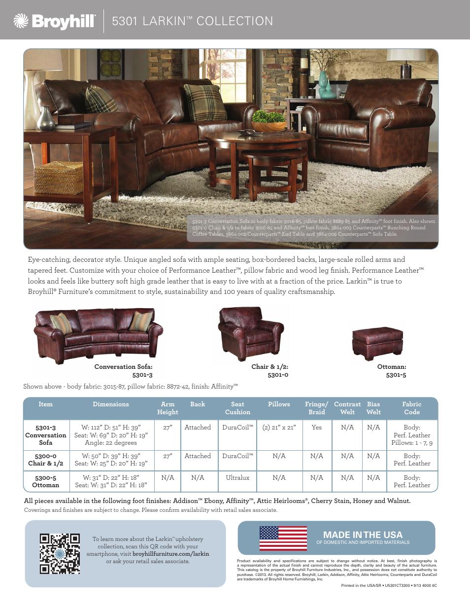 Peachy 5301 Larkin Collection Made In The Usa Broyhill Larkin Evergreenethics Interior Chair Design Evergreenethicsorg