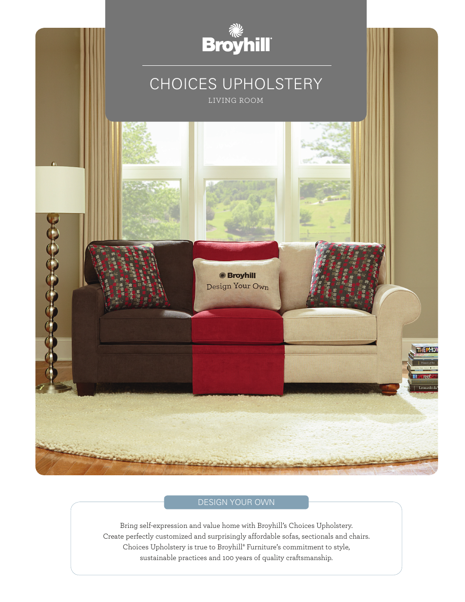 Broyhill CHOICES SECTIONAL, CHAIRS, OTTOMAN (DESIGN YOUR OWN) Product  Details User Manual | 8 Pages