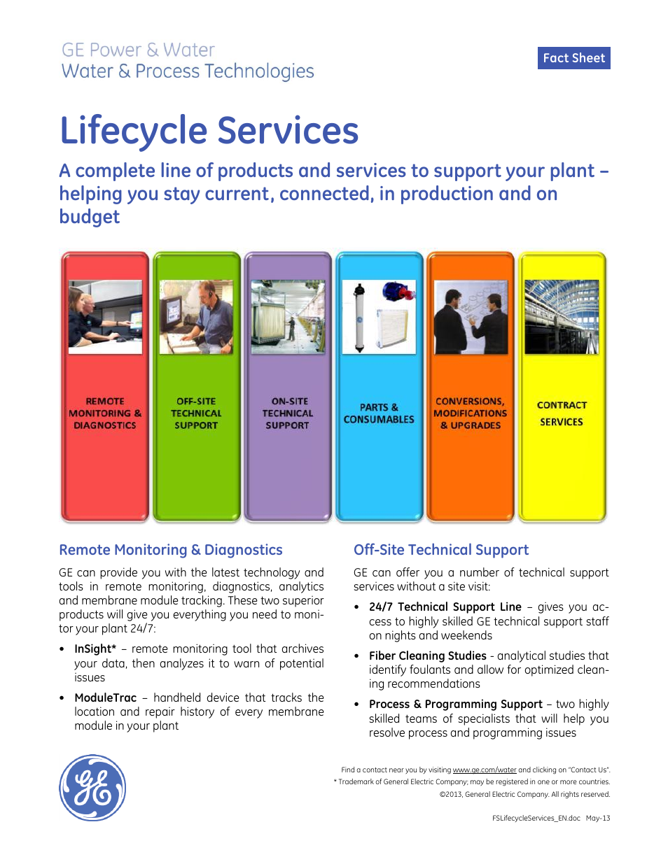 Ge Tech Support Ge Pw Lifecycle Services User Manual 2 Pages