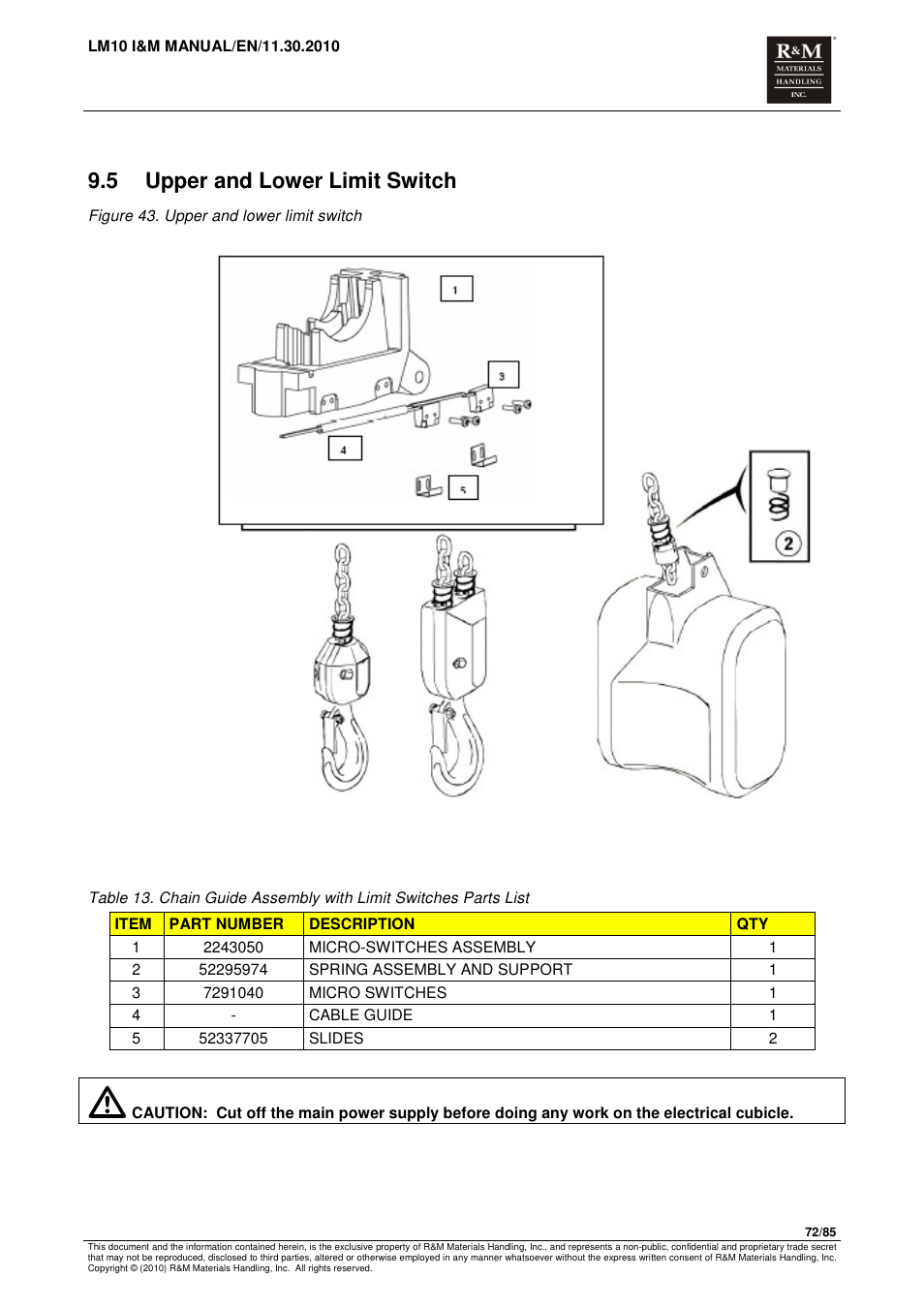 Pendant Wiring Diagram Lm 10 Librarycm Hoist B 27294 Library