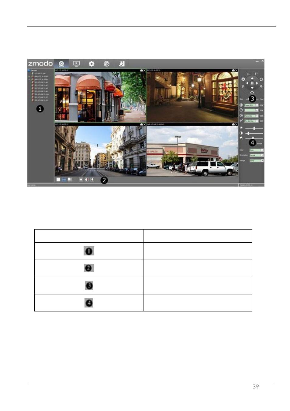 2 main interface of zviewer | ZMODO ZP-IBH13-P 720P HD H 264