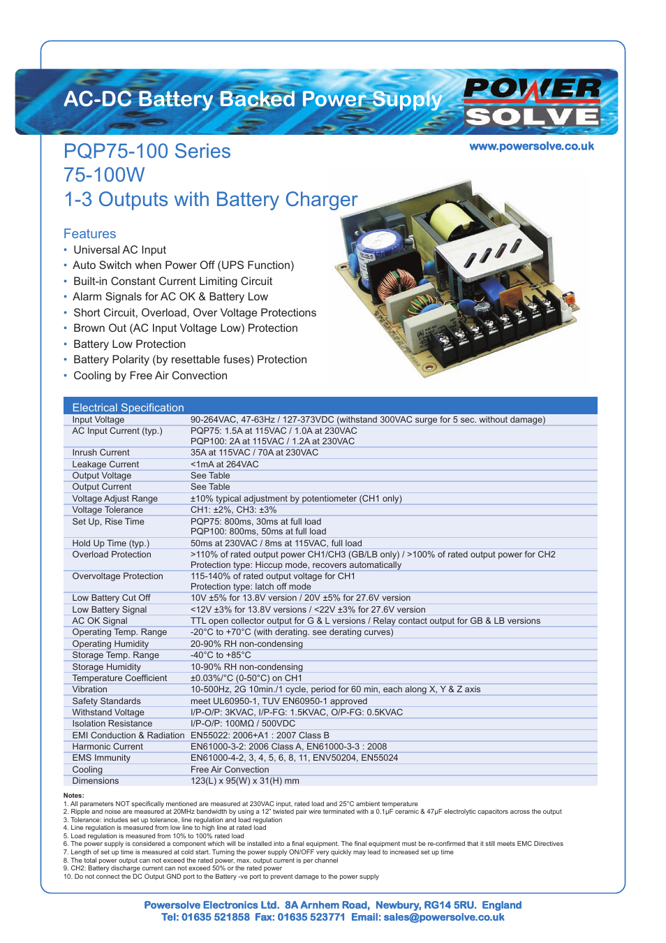 Powersolve Pqp100 Series User Manual 4 Pages And Battery Low Voltage Protection Short Circuit Protectionin Car