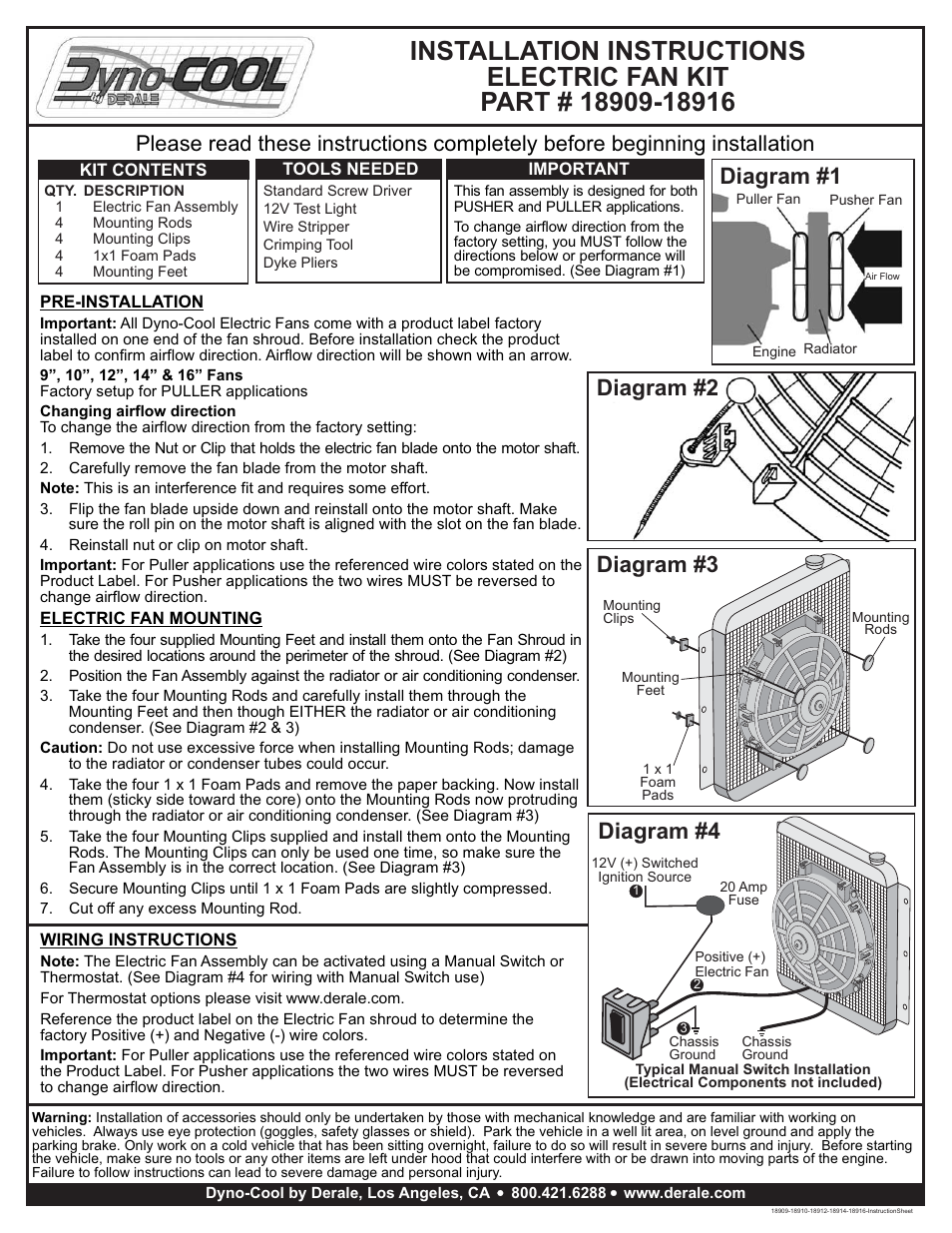 Derale Electric Fan Wiring Diagram