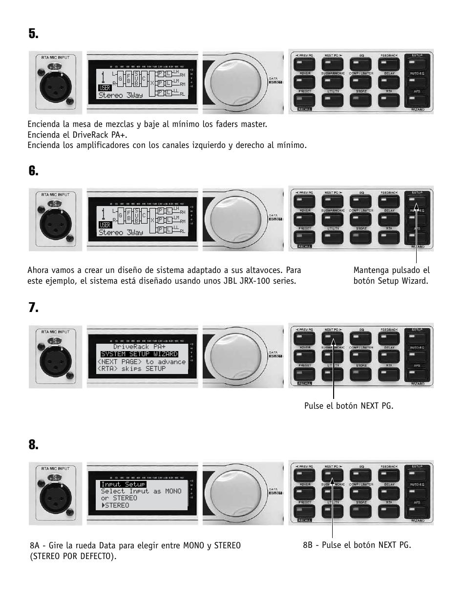 dbx DriveRack PA+ Quickstart Guide User Manual | Page 4 / 16