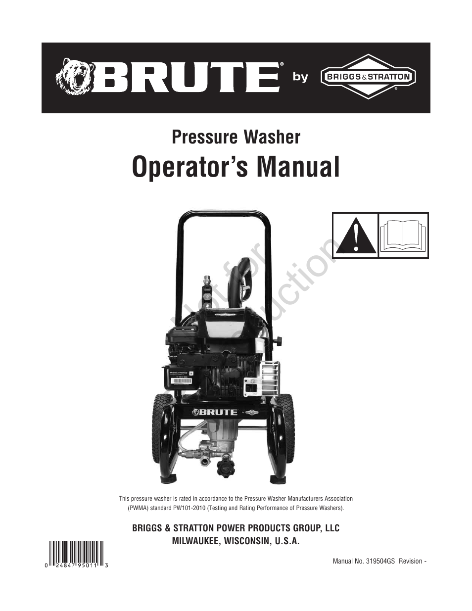 Brute 2200 PSI Pressure Washer User Manual | 56 pages