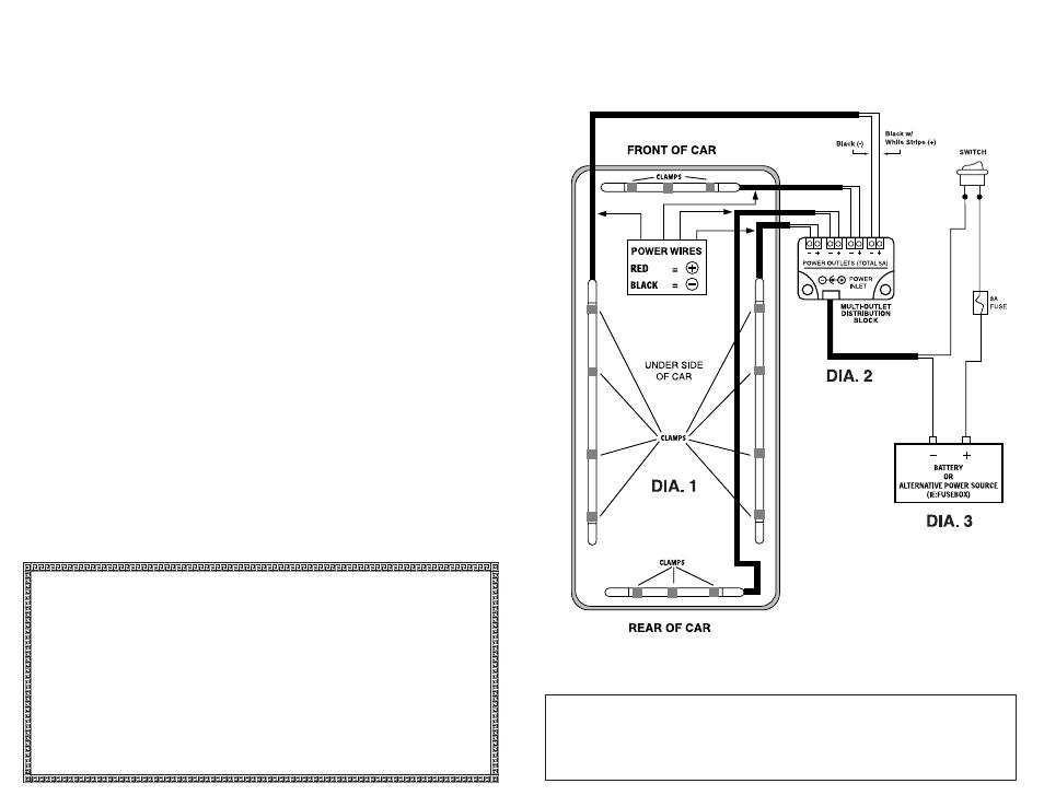 Wiring diagram | StreetGlow OPTX Neon Undercar Kit User Manual ...