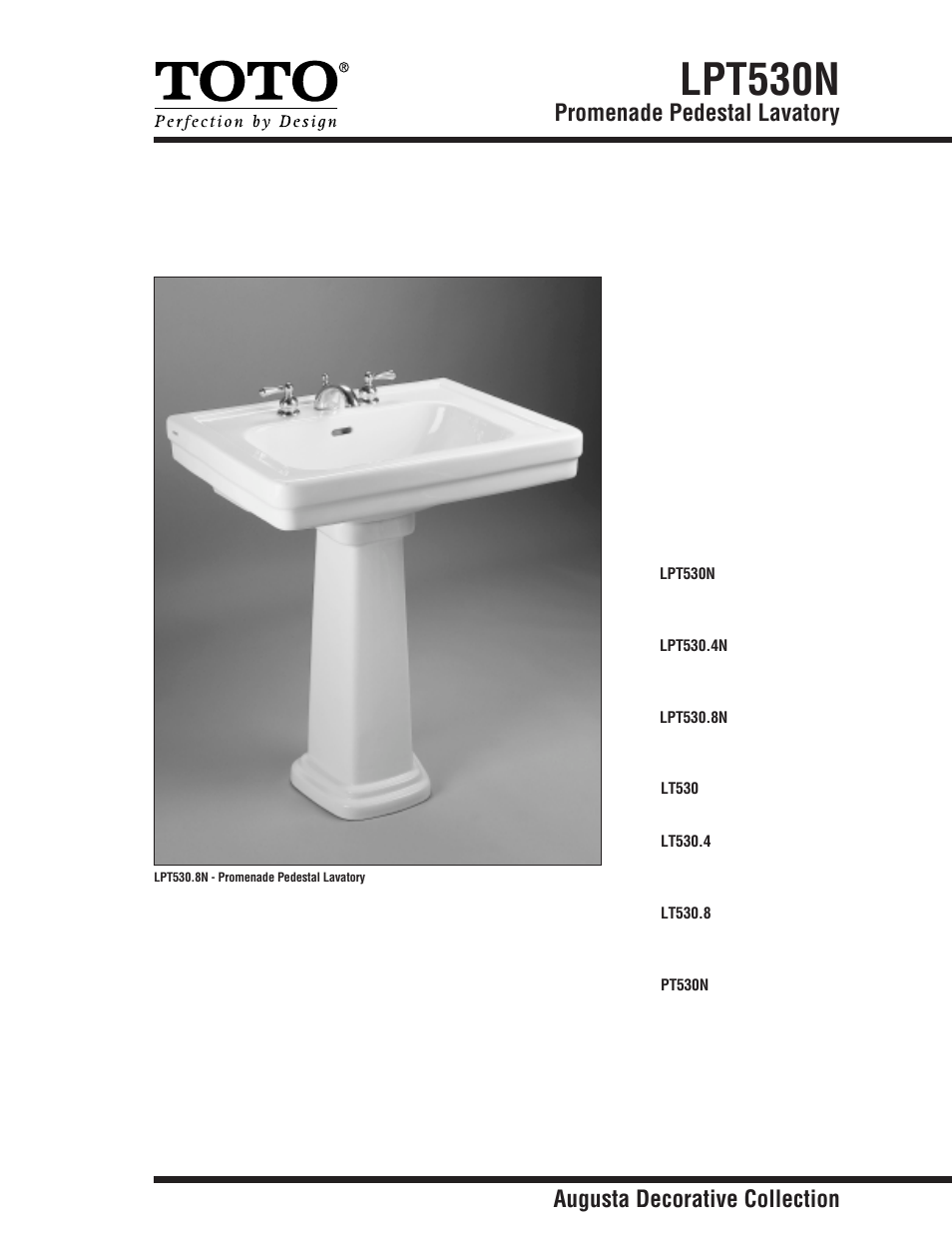 Factory Direct Hardware Toto PT530N User Manual | 2 pages | Also for ...