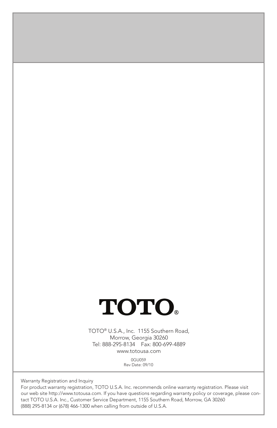 Factory Direct Hardware Toto WT152M#01 In-Wall User Manual | Page 24 ...