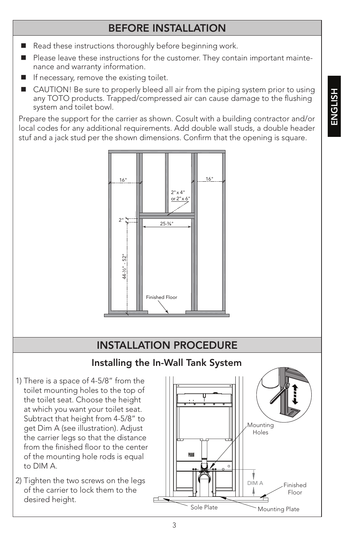 Before installation, Installation procedure, Installing the