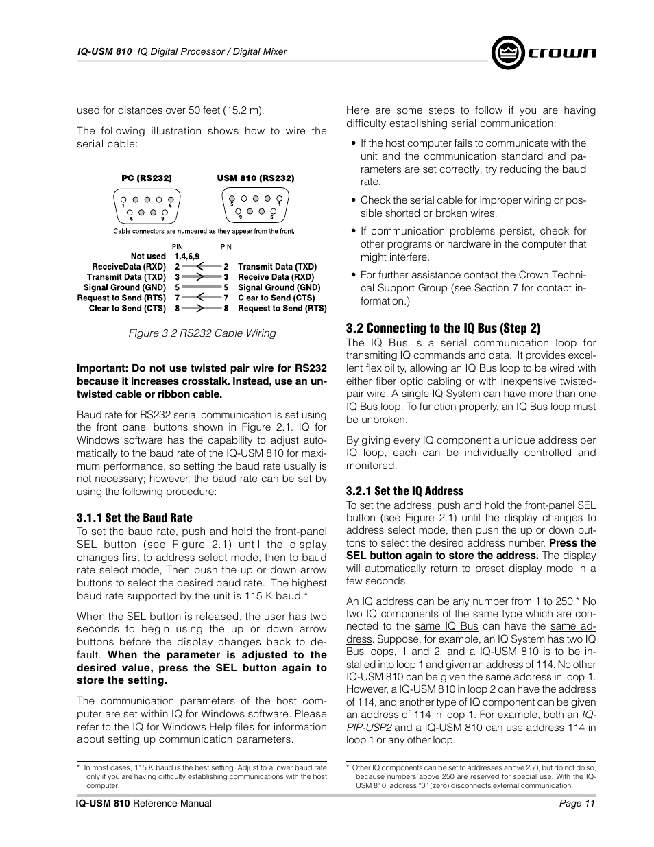 Crown Audio IQ-USM 810 User Manual | Page 11 / 40