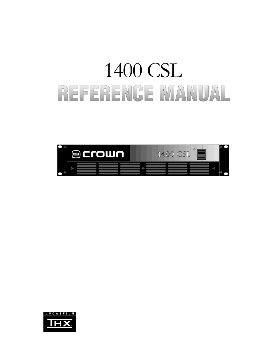 Crown Amp Manual Forklift Wiring Diagram Array Audio Csl 1400 User 18 Pages Rh Manualsdir