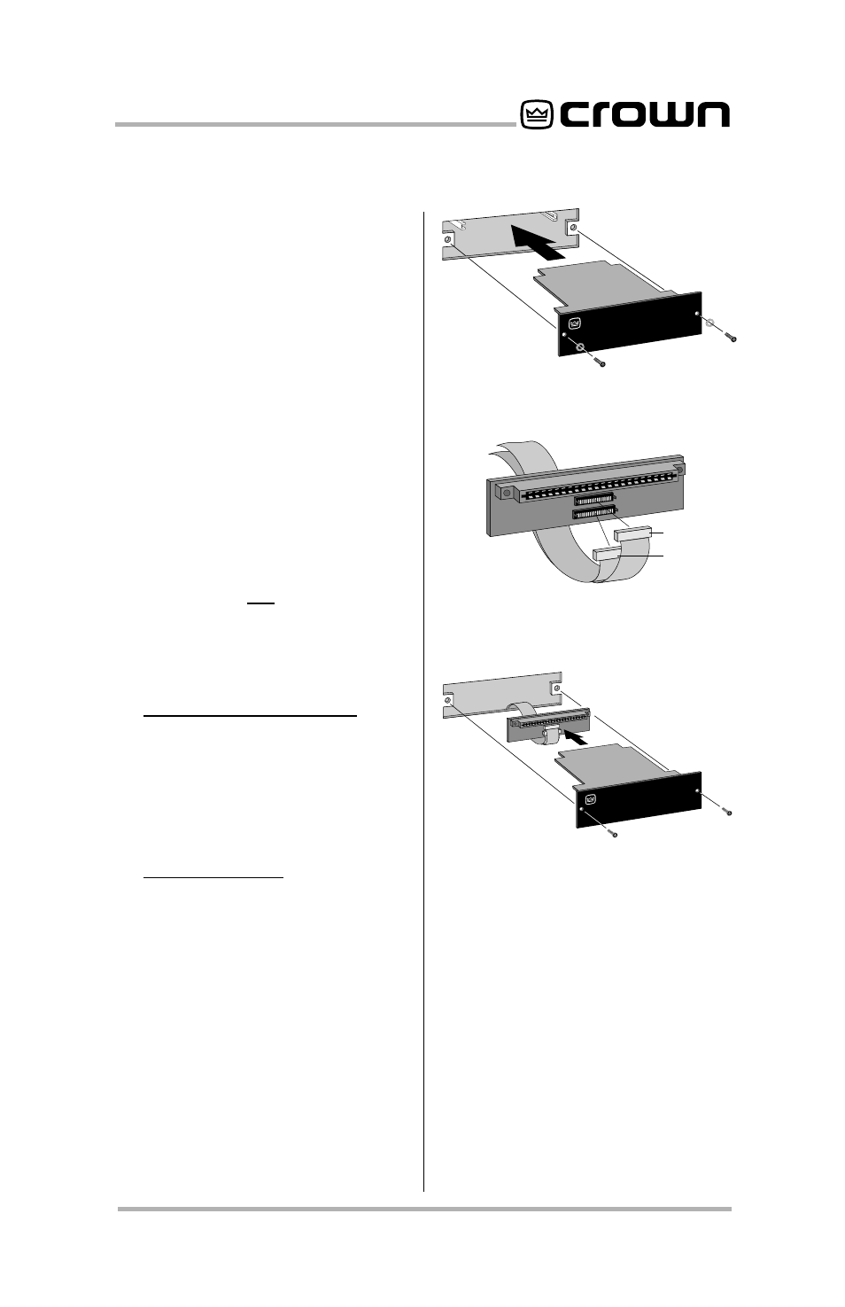 P.i.p, Pip2, Standard p.i.p. amplifiers   Crown Audio P.I.P.-PA User Manual    Page 7 / 20