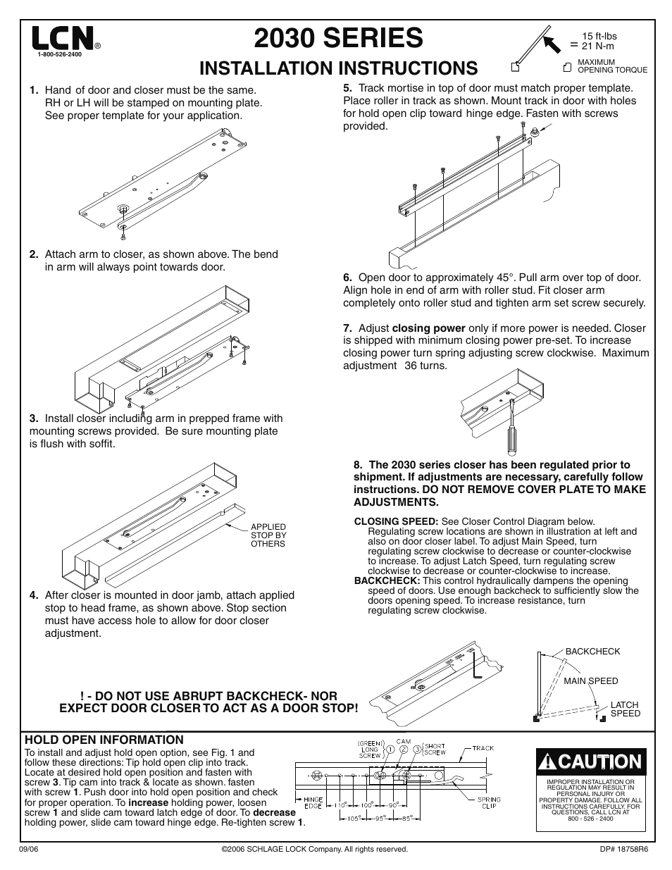 Factory Direct Hardware Lcn 2035 User Manual 4 Pages