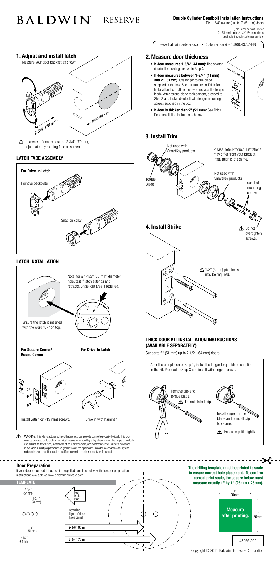 Baldwin Door Installation Instructions Mycoffeepot Org