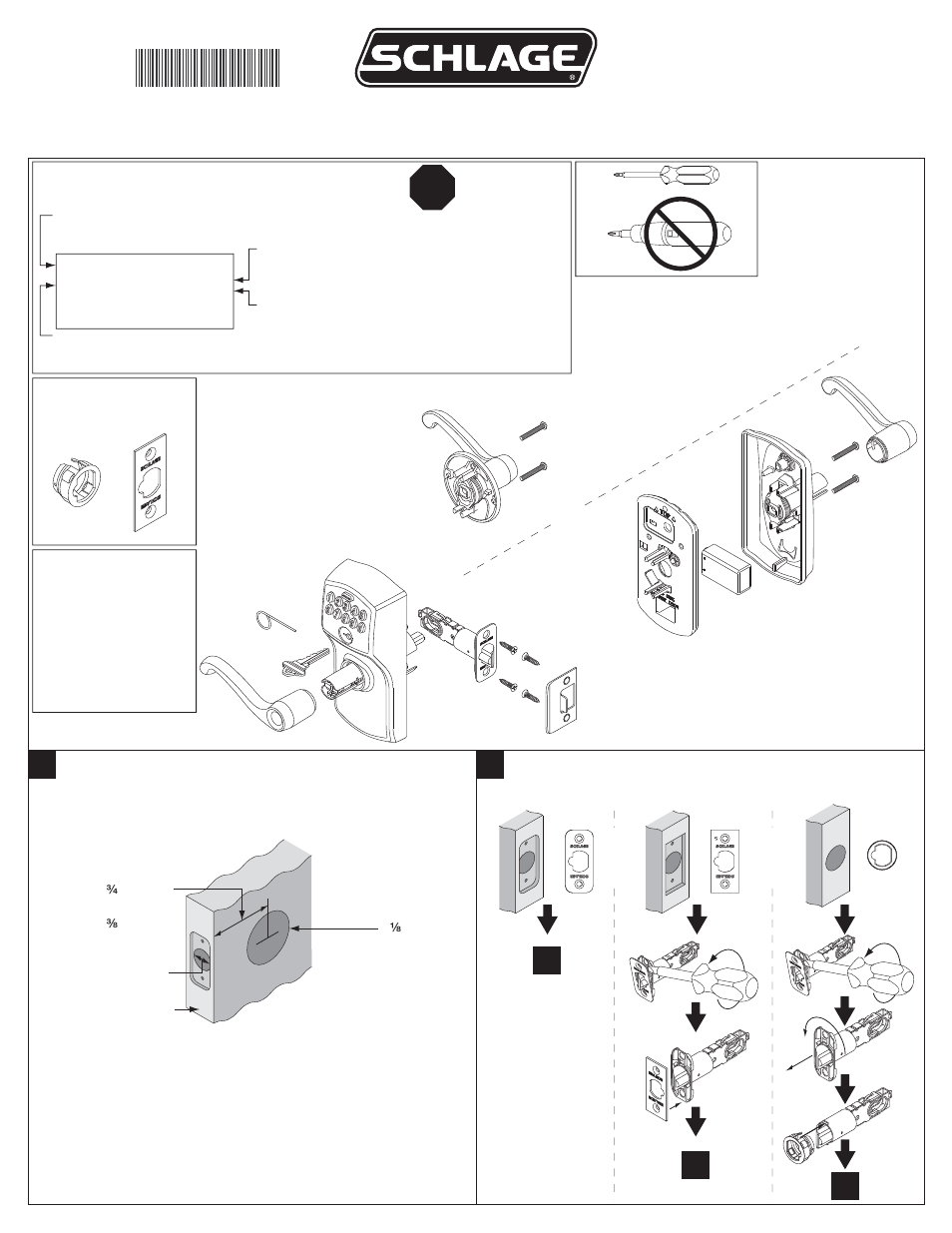 Factory Direct Hardware Schlage Fe575 Cam Acc User Manual