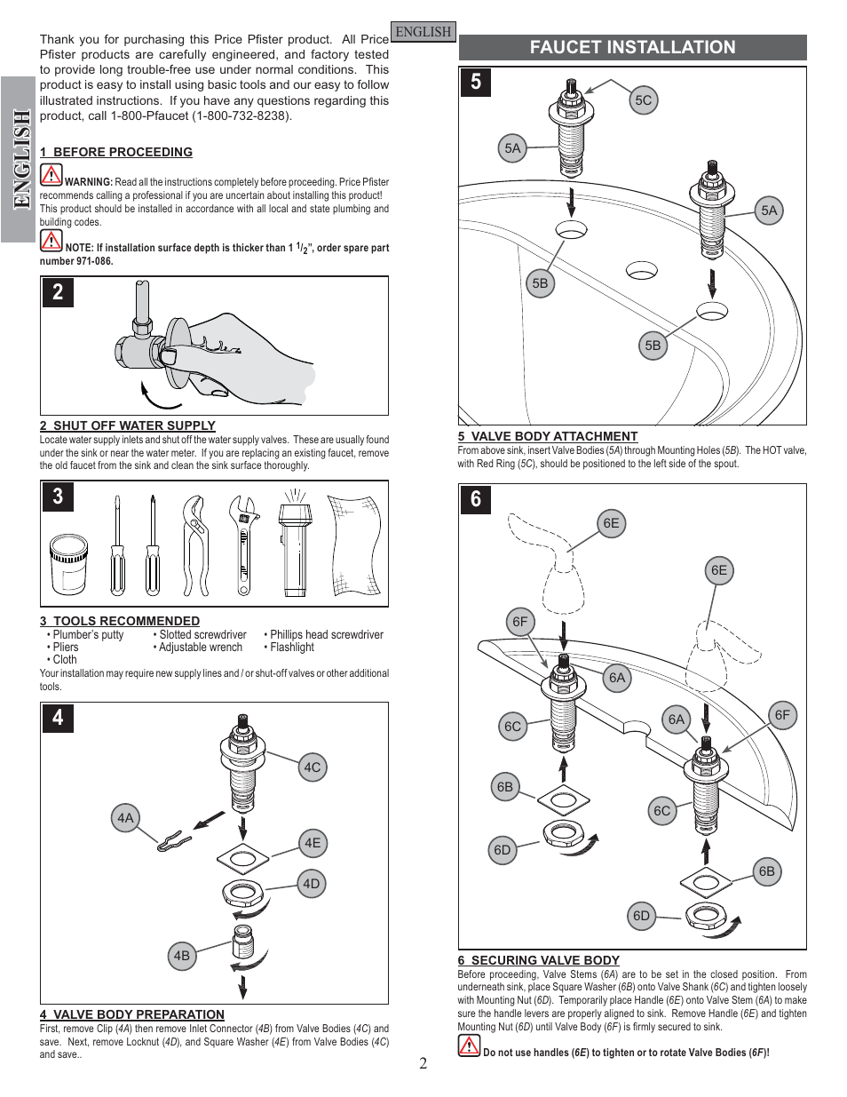 Price Pfister Goose Neck Faucet Manual Guide