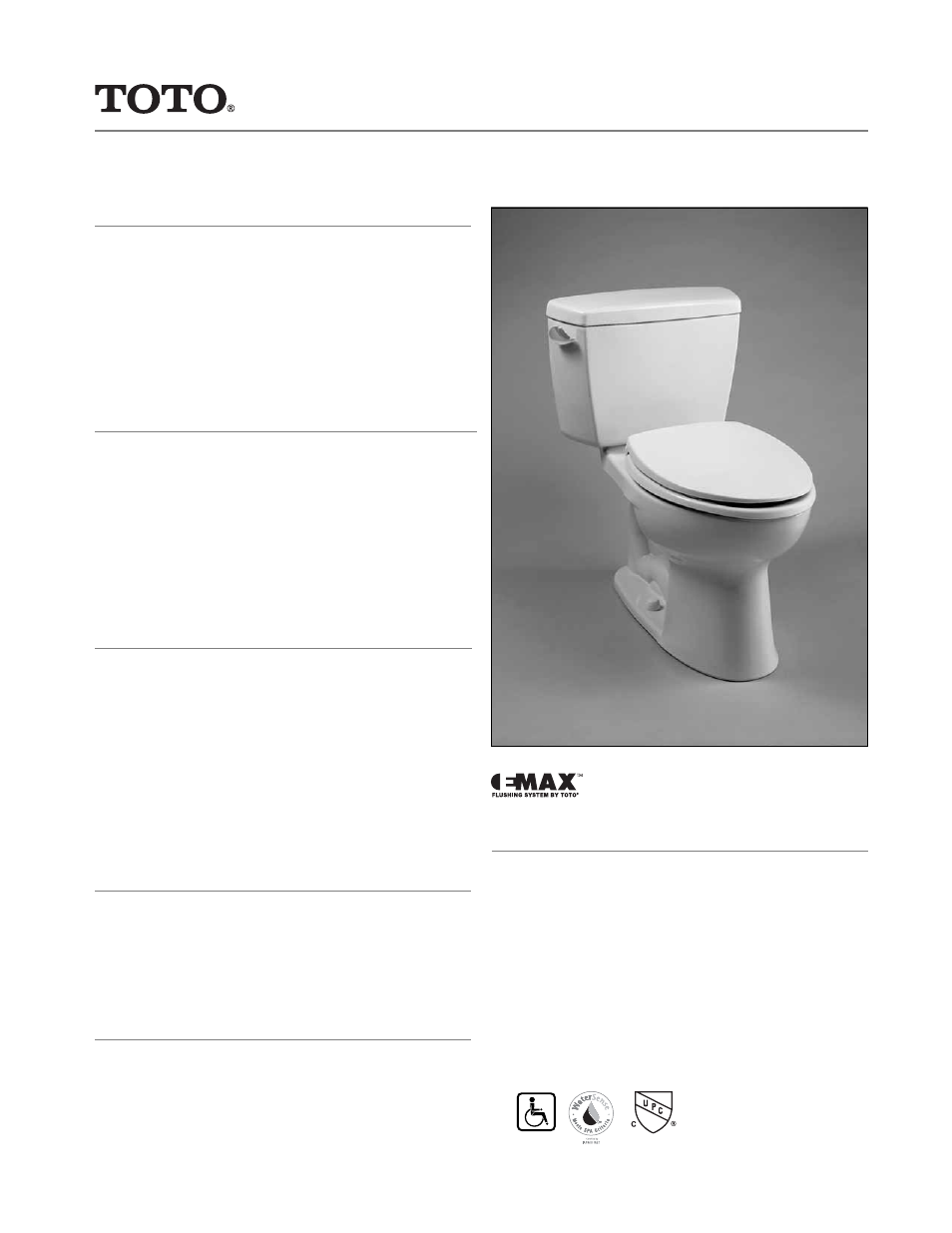 Factory Direct Hardware Toto CST744ELRB#01 Eco Drake User Manual | 2 ...