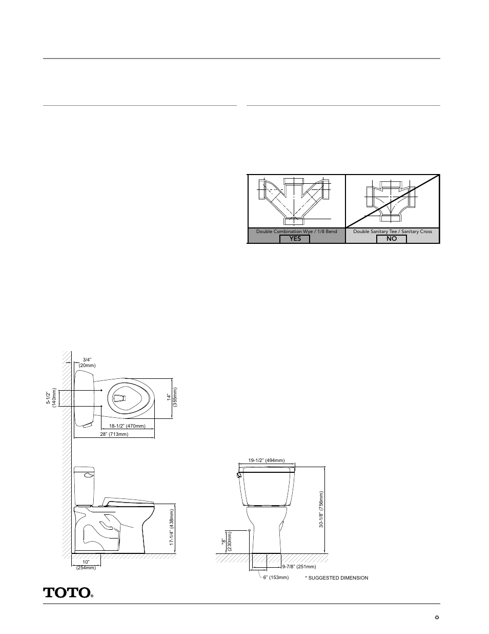 Eco drake, Close coupled toilet, 1.28gpf, Specifications | Factory ...