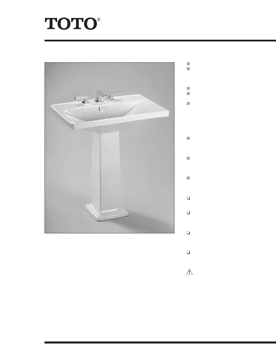Factory Direct Hardware Toto LT930.8 User Manual   2 pages