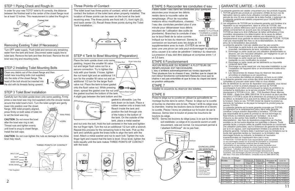 0gu008z-5final p2p11.pdf, No yes, Step 1 piping check and rough-in ...