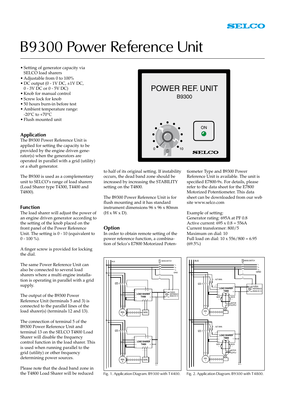 littelfuse selco b9300 power reference unit user manual