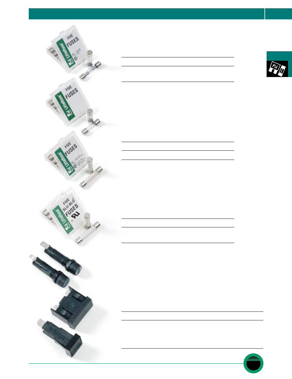 Littelfuse Isf Fuseholder Carded Series User Manual 1 Page Fuses Types Of