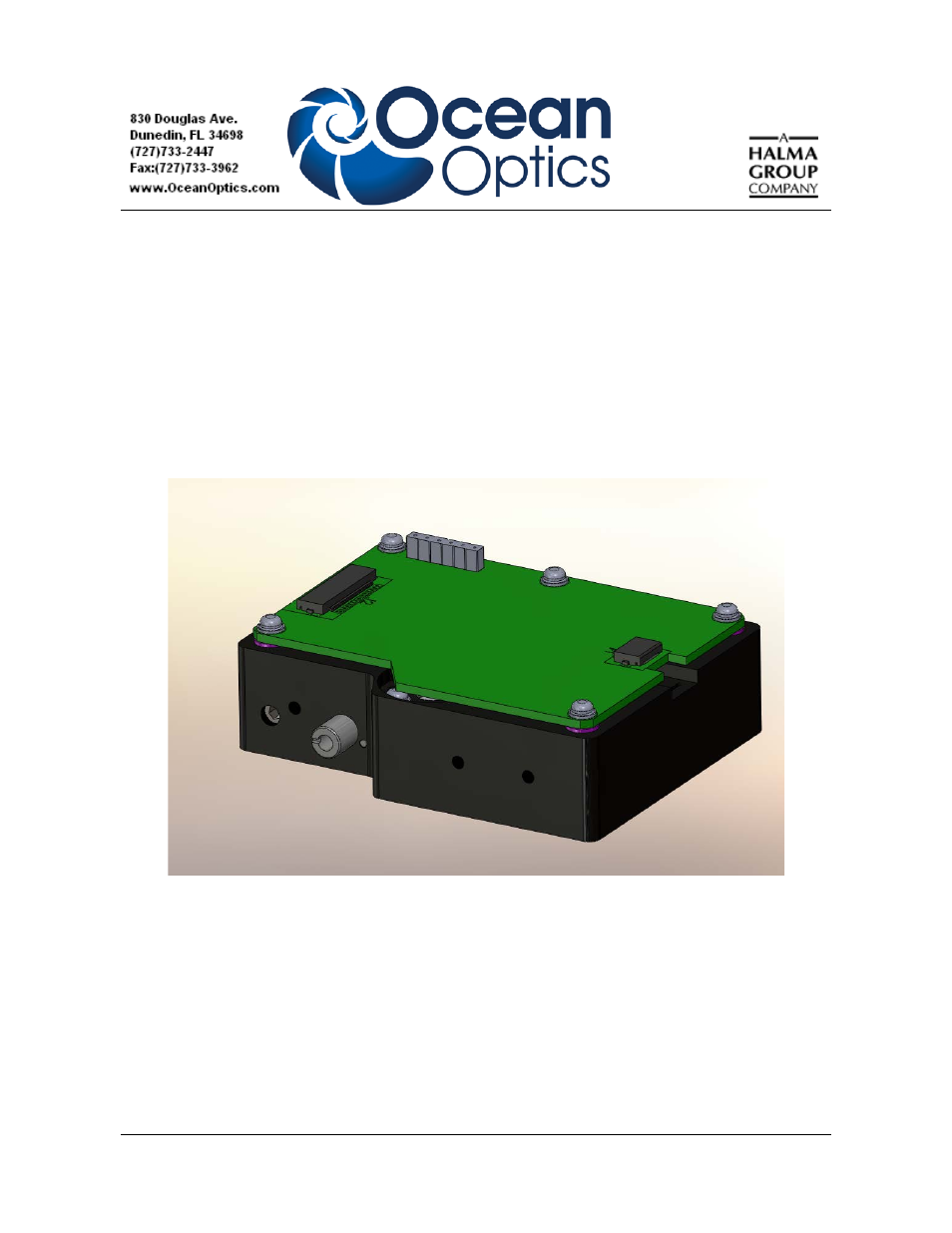 Ocean Optics EMBED2000+ User Manual | 12 pages