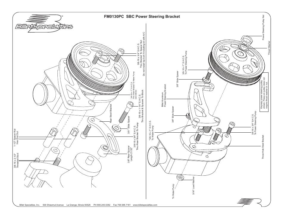 Fm0130pc Sbc Power Steering Bracket
