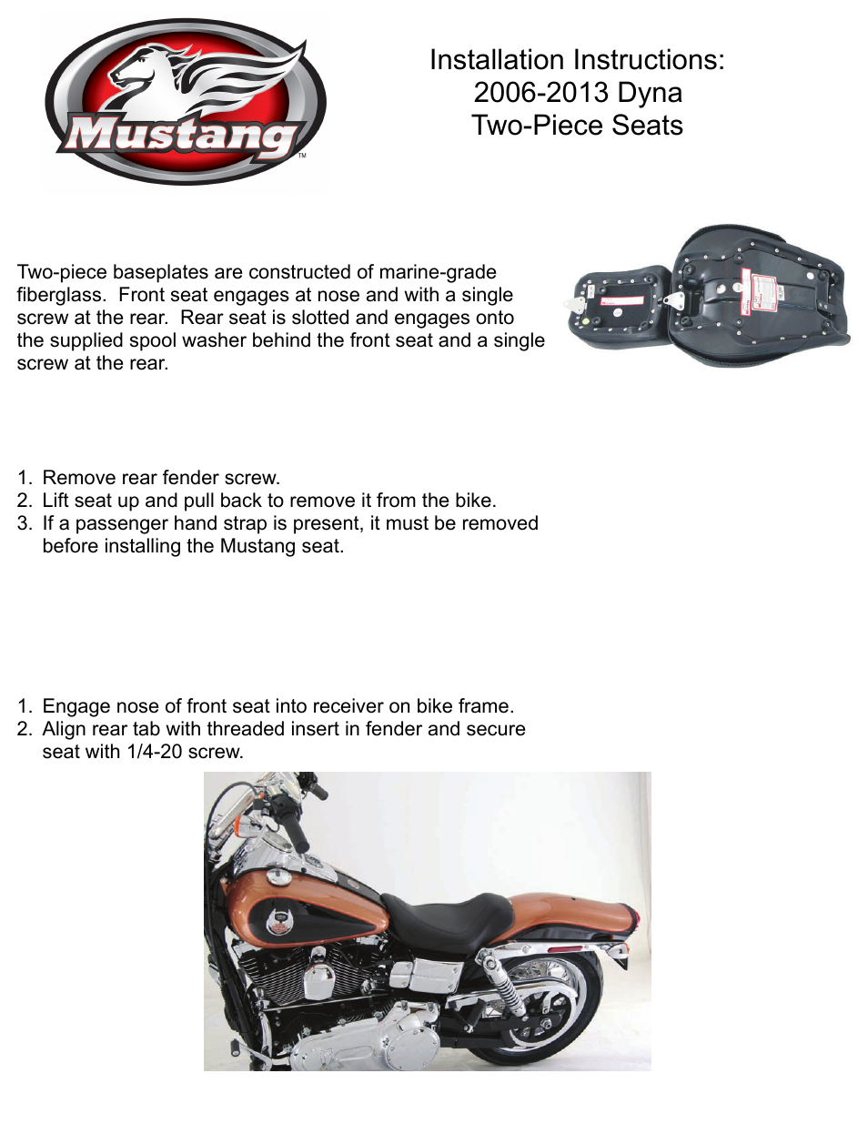 Mustang Motorcycle Seats Deluxe Tripper Solo Seat - Harley