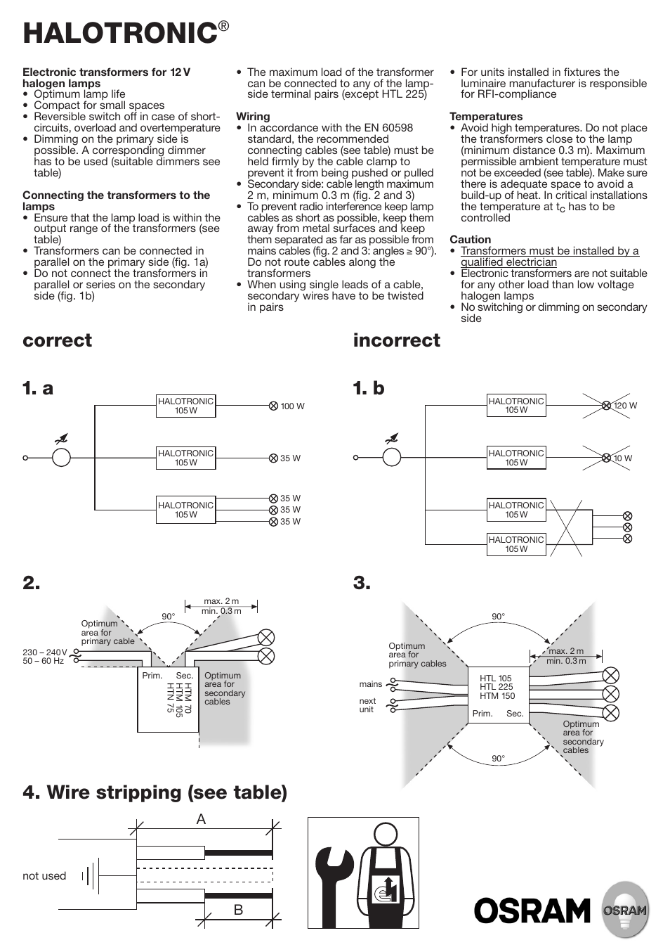 Osram Halotronic Compact Htm Htn User Manual 2 Pages