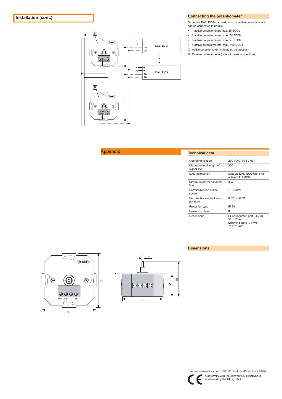 Installation (cont.), Appendix | OSRAM DALI MCU User Manual | Page 2 / 2